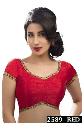 image of Party Wear Dhupion-Silk Blouse