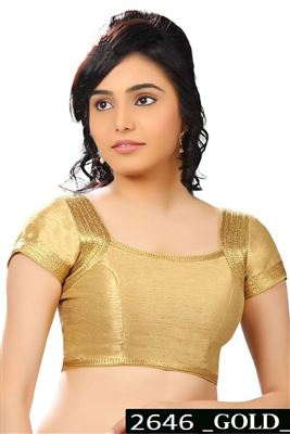 image of Beige Dhupion-Silk Designer Party Wear Blouse
