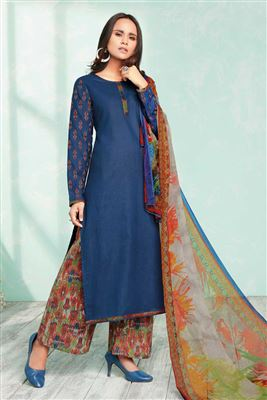 2b423f579db image of Dia Mirza Featuring Green Color Georgette Fabric Embroidered  Designer Anarkali Salwar Suit