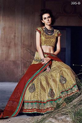 image of Jubilant Black Color Fancy Fabric Designer Lehenga Choli with Embroidery