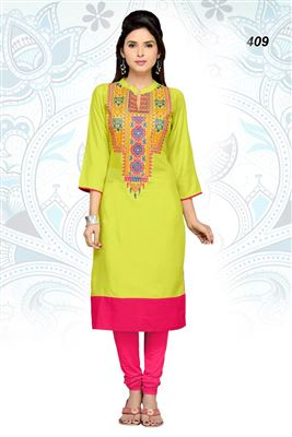 image of Black Color Designer Kurti in Georgette Fabric with Embroidery