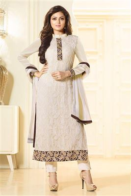 image of Saumya Tandon Georgette-Net Salwar Suit