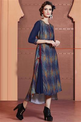 image of Stylish Designer Party Wear Georgette Kurti