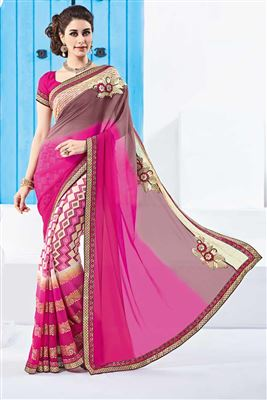 image of Magnetic Georgette Party Wear Printed Saree