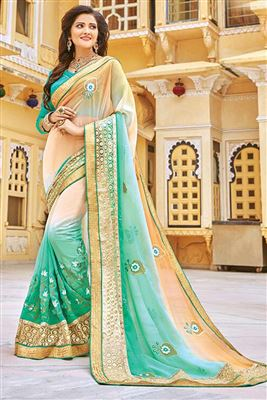 image of Vibrant Casual Wear Georgette Combo of 2 Sarees