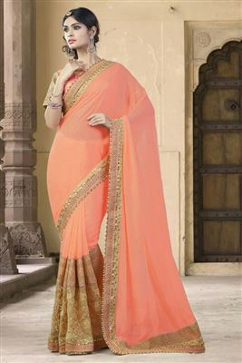 image of Fascinating Chiffon Party Wear Saree