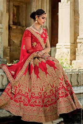 image of Designer Sky Blue Color Bridal Wear Net Lehenga Choli With Embroidery