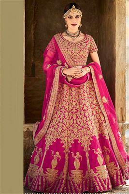 image of Wedding Bridal Heavy Embroidered Lehenga Choli