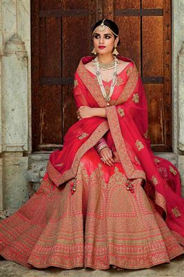 image of Pink Color Festive Wear Designer Lehenga Choli in Georgette And  Shimmer Fabric