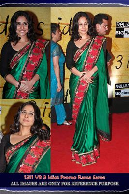 image of LFW Party Wear Black Net Replica Saree-1342
