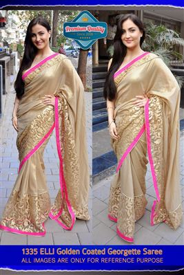 image of Shruti Hassan Cream Net Replica Lehenga Saree