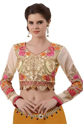 image of Yellow Designer Blouse