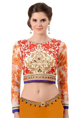 image of Cream Designer Blouse