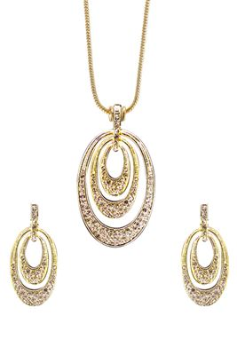 image of Pictorial Fashionable Imitation Pendant Set