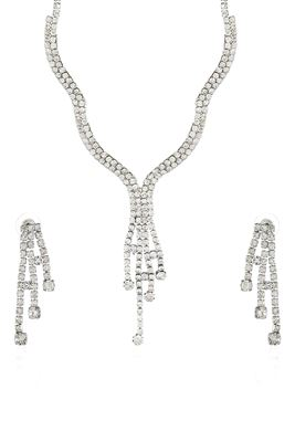 image of Stylish Black Color Alloy Necklace