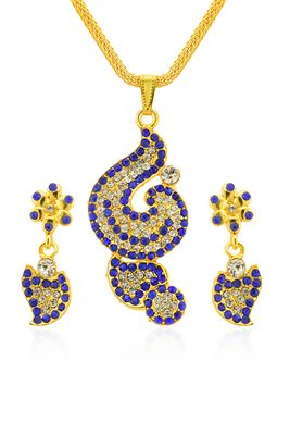 image of Mystical kundan pendant set