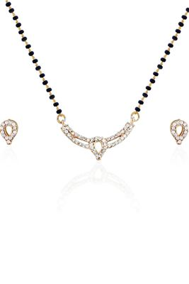 image of Celestial White Rhodium Plating Necklace Set