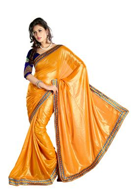 image of Casual Wear Green Color Fancy Print Silk Chiffon Fabric Saree