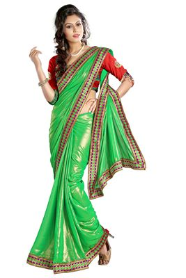 image of Festive Wear Grey Color Embroidered Designer Georgette Saree