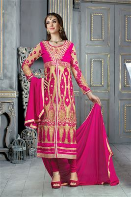 image of Sushmita Sen Designer Long Anarkali Dress Material