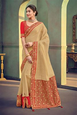 0b652976c07eb7 Buy Red Satin Silk Digital Print Saree With Riveting Blouse Online ...