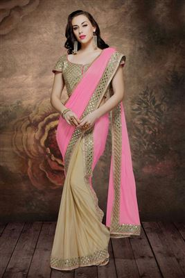 image of Opulent Party Wear Net Saree-5671