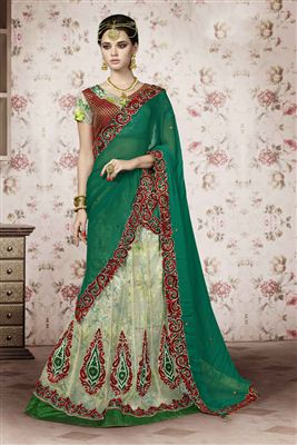 image of Ravishing Wedding Wear Designer One Minute Saree