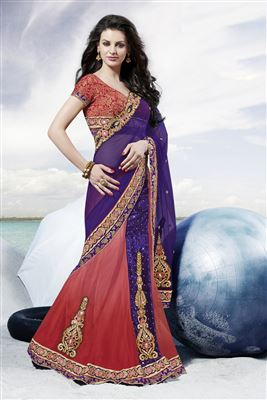 image of Lavishing Designer Party Wear Embroidered Saree