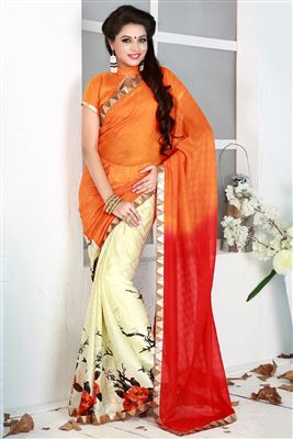 image of Ebullient Grey And Black Color Designer Saree