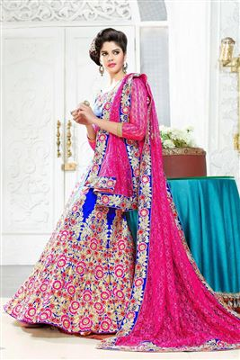 image of Magenta Georgette Wedding Bridal Lehenga Choli
