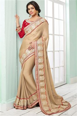 image of Blue Designer Party Wear Net Saree-5618