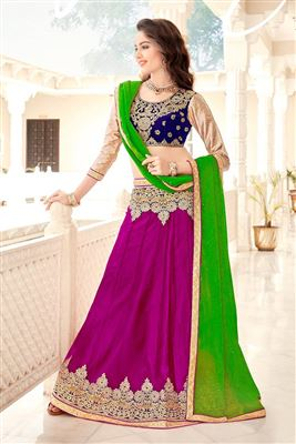 image of Enchanting Heavy Silk Wedding Wear Lehenga Choli