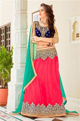 image of Designer Red Color Bridal Lehenga Choli