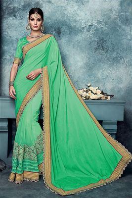 image of Pink Designer Party Wear Net Saree-13948