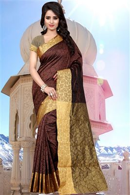 image of Pink-Cream Color Designer Chiffon-Net Saree with Embroidery