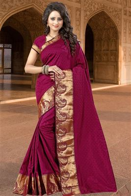 image of Cyan Color Georgette Saree with Banglori Silk Blouse