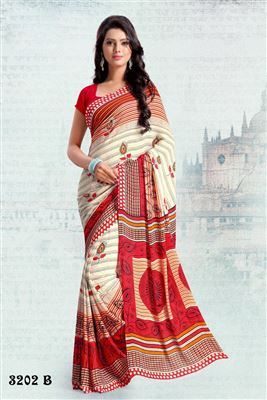 image of Green Color Georgette-Jacquard Alluring Saree