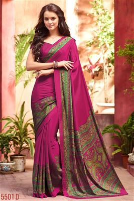 image of South Indian Style Art Silk Fabric Party Saree In Green Color