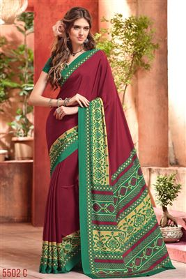 image of Alluring Georgette-net Party Wear Saree