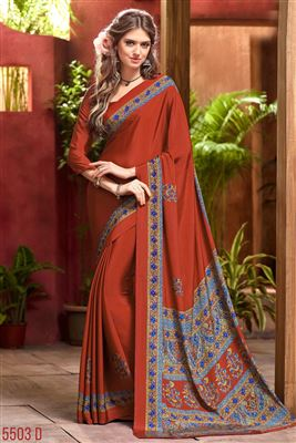 image of Maroon Color Party Wear Cotton And Silk Fabric Saree With Weaving Work