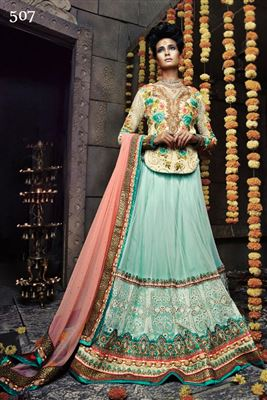 image of Sky Blue Festive Wear Designer Lehenga Choli-2111