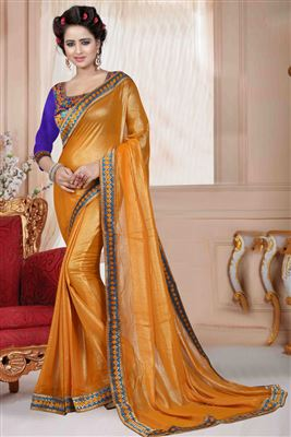 image of Enchanting Silk Printed Designer Saree