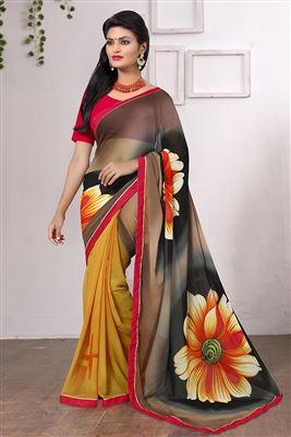 image of Archetypal Sea Green Designer Saree-12811