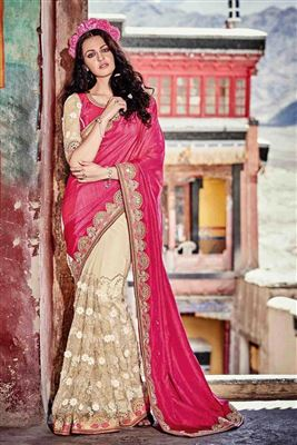 image of Red Color Traditional Party Wear Silk Saree