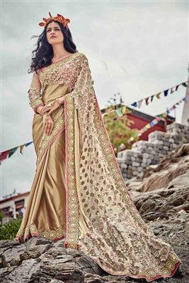 image of Pink Party Wear Georgette Saree-6060