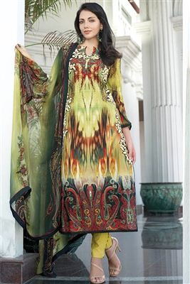 image of Cream Georgette Designer Pakistani Salwar Suit