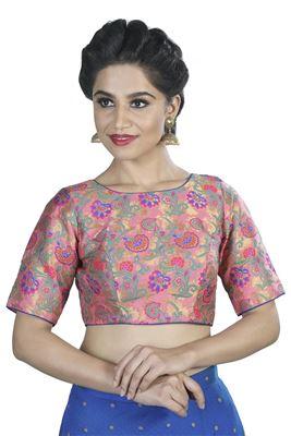 6eb3cfce165d43 Buy Shilpa Shetty Inspired Shimmer Sleeveless Blouse Online from ...