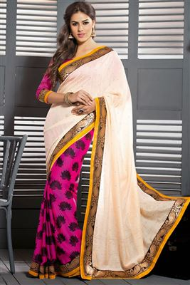 image of Wedding Bridal Georgette Saree