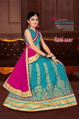 7aadb7cc1be66 image of Art Silk Fabric Function Wear Sky Blue Color Girls Lehenga Choli