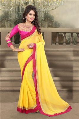 image of Pink Color Compelling Printed Saree